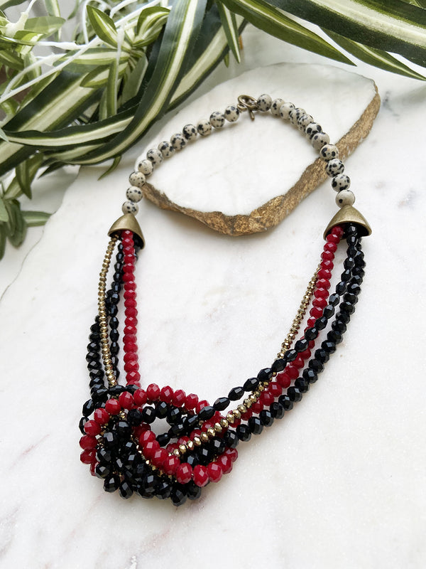 red black and gold uptown necklace