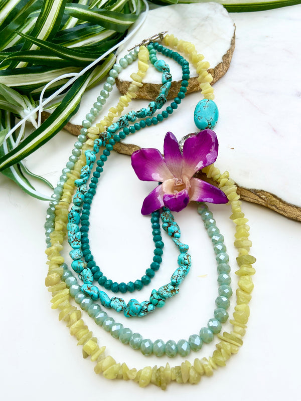 bloom tiered necklace - BL-T-014-NL