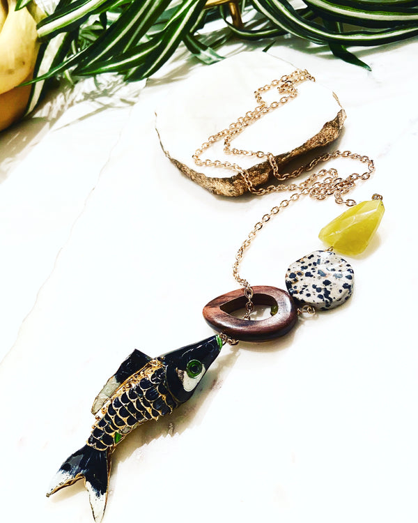 hooked necklace - HK-012-NL