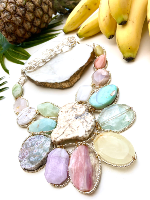 goddess necklace - pastel multi-colour