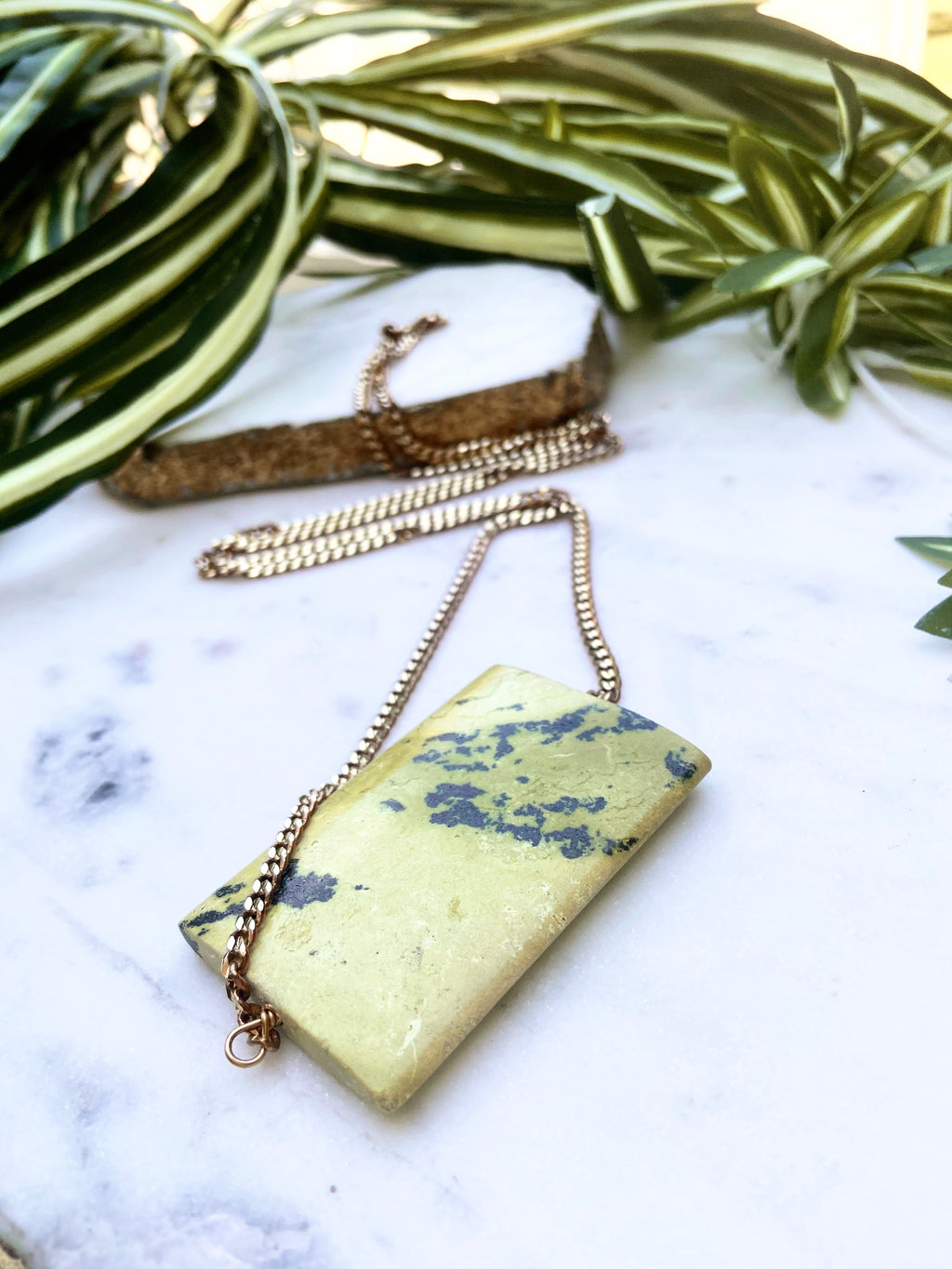 yellow turquoise solo necklace