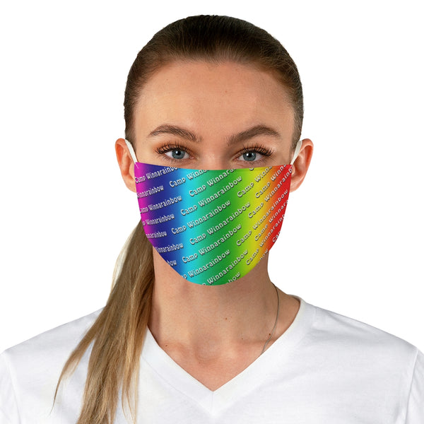 Camp Winnarainbow Fabric Face Mask - Rainbow 2