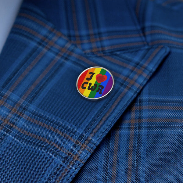 I Love CWR Rainbow Metal Pin!