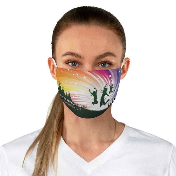 Camp Winnarainbow Fabric Face Mask - Joy