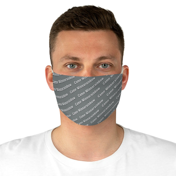 Camp Winnarainbow Fabric Face Mask - Gray