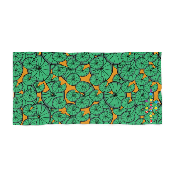 Lake Veronica Lily Pad Beach Towel