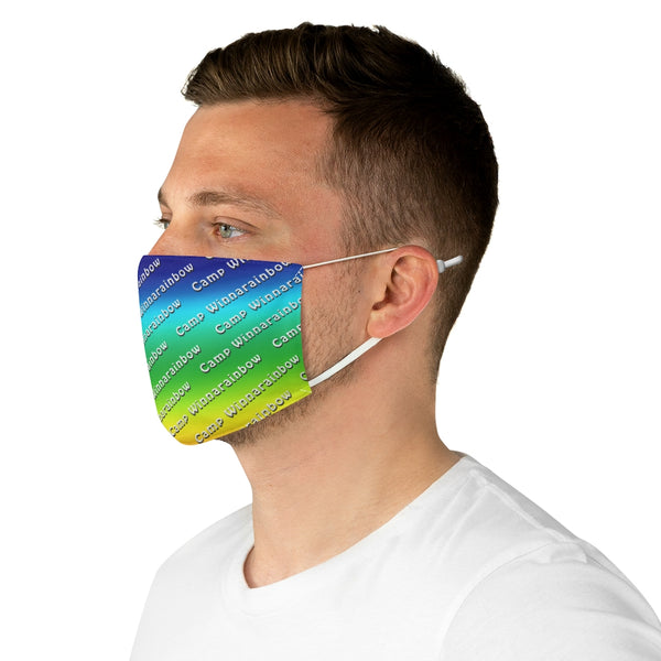 Camp Winnarainbow Fabric Face Mask - Rainbow 1