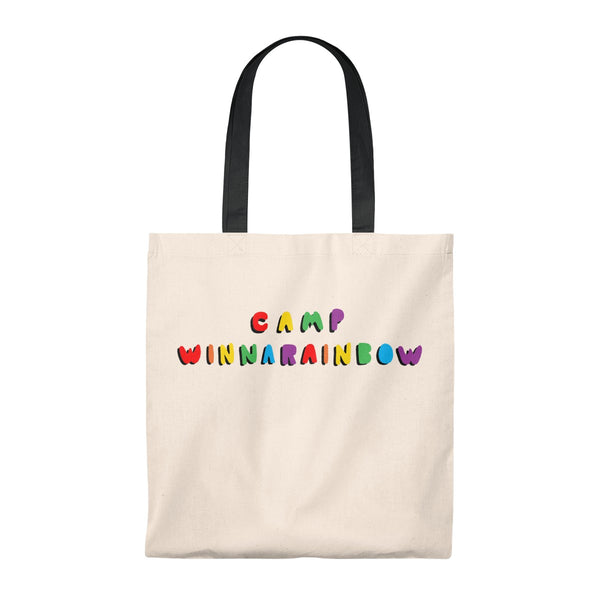 Camp Winnarainbow Bubble Letter Tote