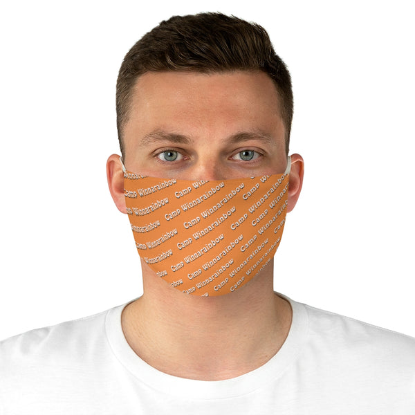 Camp Winnarainbow Fabric Face Mask - Orange