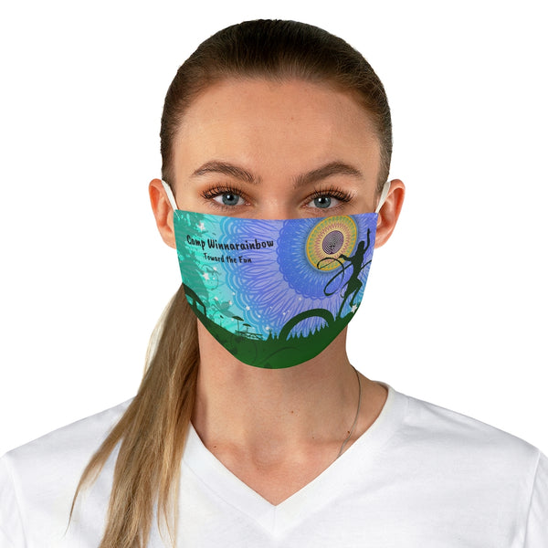Camp Winnarainbow Fabric Face Mask - Mandala