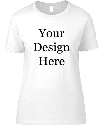 Womens White Design Your Own Geocaching Tshirt