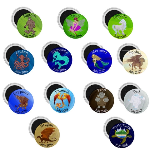 Creatures Complete Set Celebration Geomagnets