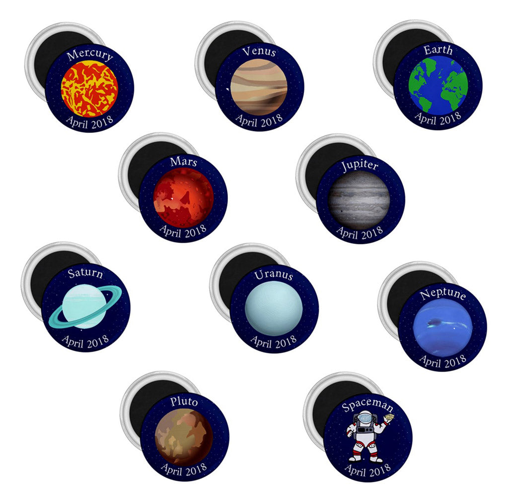 Planet Complete Set Celebration Geomagnets