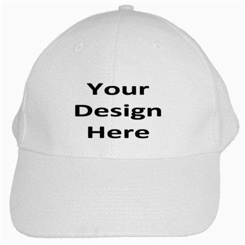 Personalized White Cotton Cap