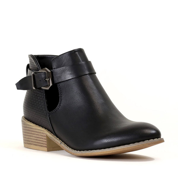 Black Cut Out Booties - Southern Chique Boutique