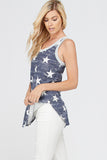 Plus Size Patriotic Stars Tank Top