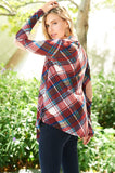 Plaid Cardigan with side pockets - Southern Chique Boutique