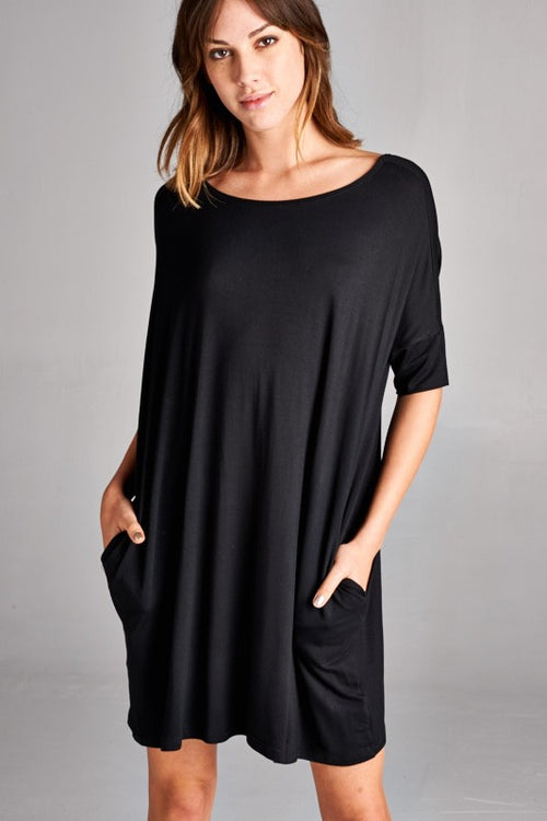 Boxy Black Dress
