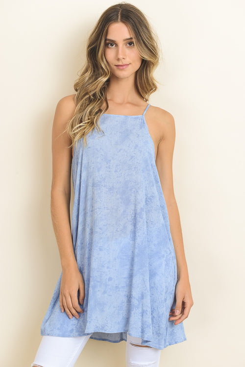 Mini Tunic Top with Cutout Back