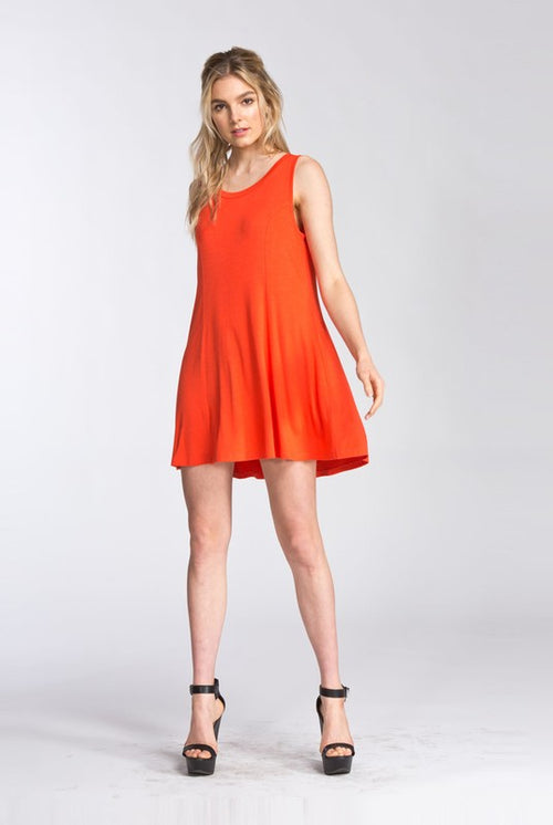 Round neck Sleeveless Tomato Dress