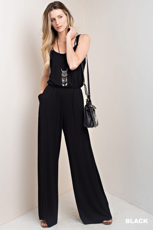 Crisscross Back Wide Leg Jumper