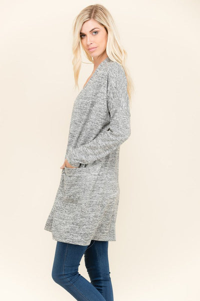 Long Sleeve Open Cardigan - Southern Chique Boutique
