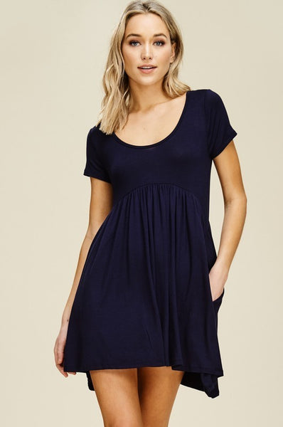 Empire Waist Dress with Mini pocket