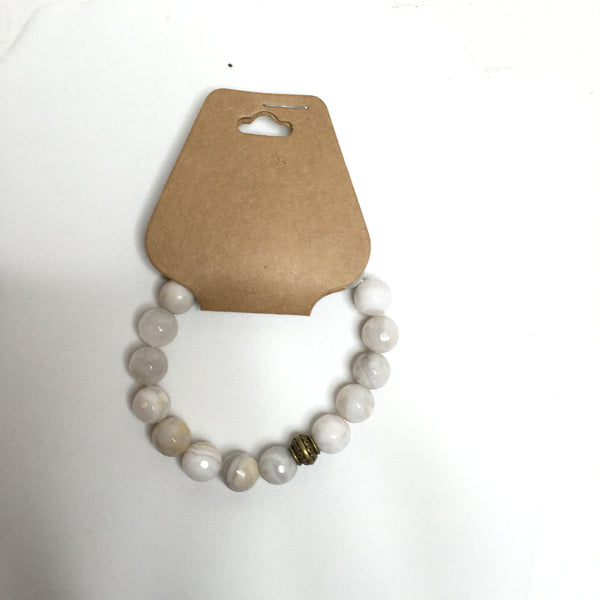 White Stone Beaded Bracelet - Southern Chique Boutique
