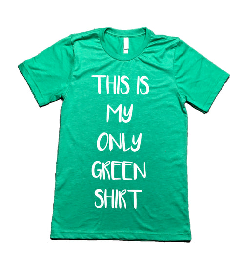 Only Green Graphic Tee