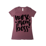 Nurse Mom Boss Graphic Tee