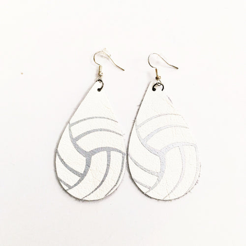 Volleyball Leather Earrings