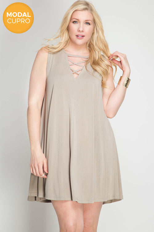 Misty Taupe Modal Dress