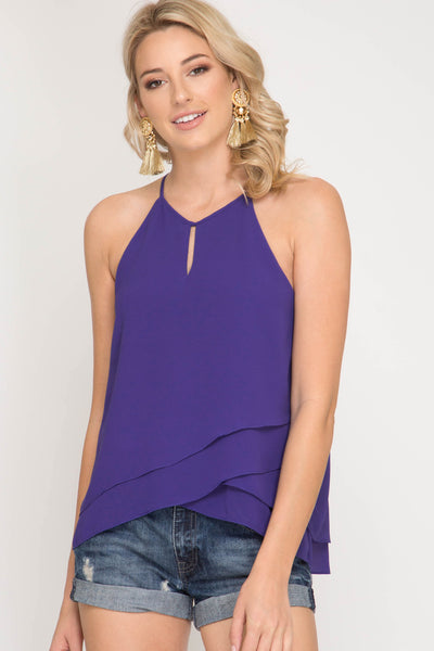 Sleeveless Halter Neck top