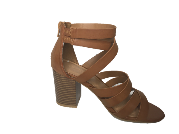 Natural Strappy Sandal with Wedge Heel - Southern Chique Boutique