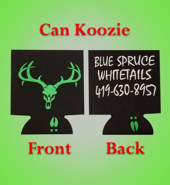 Blue Spruce Whitetails Can Koozie