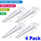 3ox 4 Pack 36W LED Shop Light Fixture Work Garage Light 6000K White 4FT Power Cord On/Off Switch