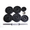 3ox Total 105lbs Dumbbells 2 x 52.5lbs A Set Adjustable Black Plated Dumbbells