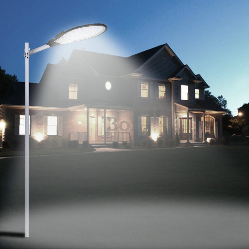 3ox LED Road Street Pole Light 15000LM 150W Floodlight Outdoor Cool White