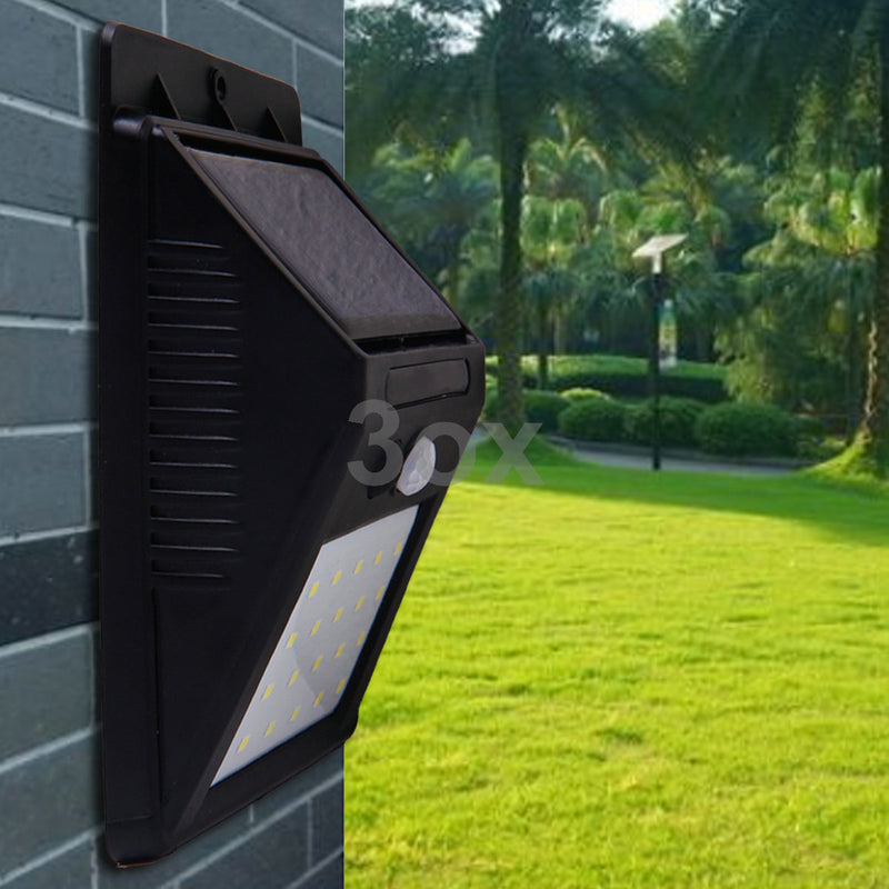 3ox Solar LED Lights Chargable Motion Detect 20 LED Landscape Walkway Lamp 4 Pack