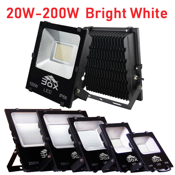 3ox 20W 30W 50W 100W 150W 200W LED Flood Light Landscape Outdoor Security Spot Lamp Waterproof