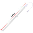 3ox 4 Feet Vapor Proof LED Fixture Cabinet Light T8 Tube Light Bulb with Power Cord for Garage, Shop