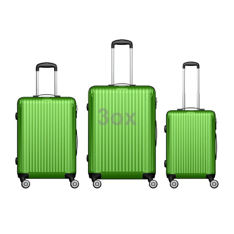 3ox 3-Piece Hardside Luggage Set with Spinner Wheels Lightweight 20'' 24'' 28''  Style