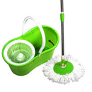 3ox Floor Cleaning System 360° Rotating Mop Bucket + 2x Mop Head Microfiber Spinning for Cleaning Hardwood and Floors