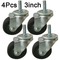 3ox 4 Pack 3 Inch Swivel Stem Caster Wheels for Wire Shelving Racks Rubber