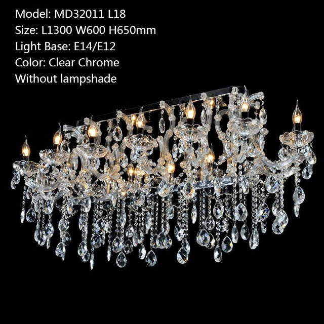 Rectangle crystal chandelier light fixture meerosee rectangle crystal chandelier light fixture rectangle crystal chandelier light fixture aloadofball Images