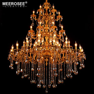 Large Crystal Chandelier Light Fixture Hanging Lamp – MEEROSEE
