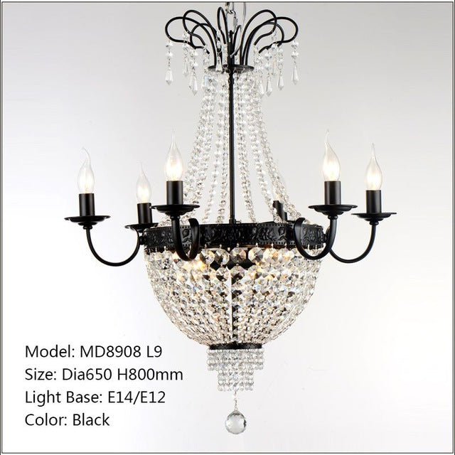 French Empire Crystal Chandelier Light Fixture – MEEROSEE