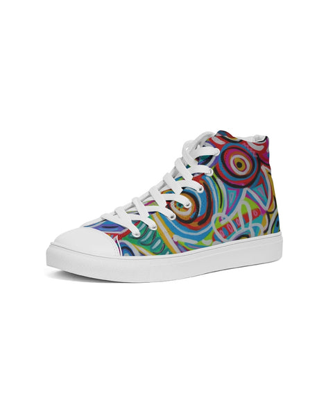 Dotty Women's Hightop Canvas Shoe