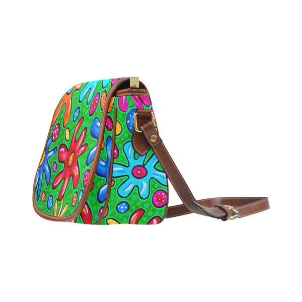 Flowers Big Saddle Bag (Model 1649) (Big)
