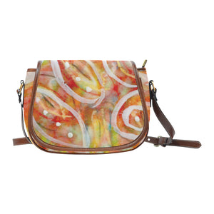 White Lines Big Saddle Bag (Model 1649) (Big)
